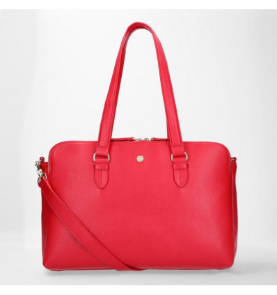 "FMME Working Bag Charlotte 15.6"" Grain Red met 3 Vakken"