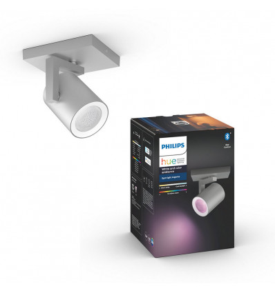 Philips Hue Argenta Spot Single Alu White en Color Ambiance + Bluetooth