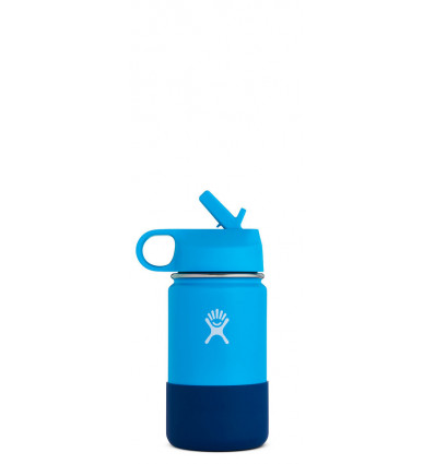 Hydro Flask Kids Drinkfles Wide Mouth 12Oz - Straw Lid - Pacific