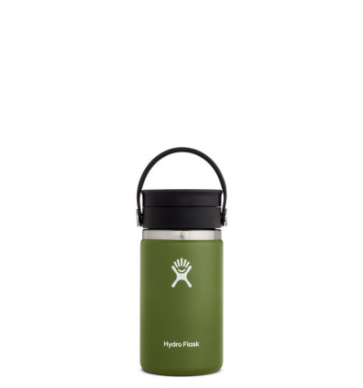 Hydro Flask Thermosfles Wide Mouth 12Oz Flex Sip Lid - Olive