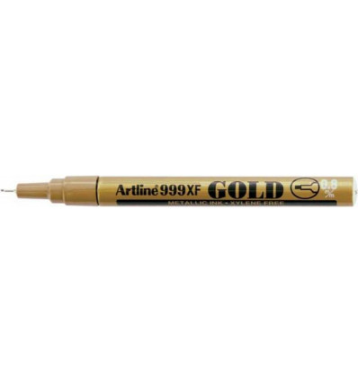 Artline Permanent Marker 999 XF 0.8 mm Goud - Metaalinkt Permanent