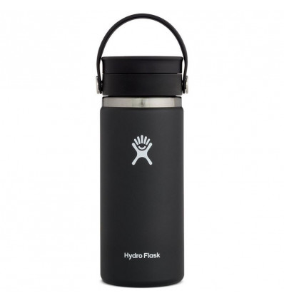 Hydro Flask Thermosfles Wide Mouth 16Oz Flex Sip Lid - Black