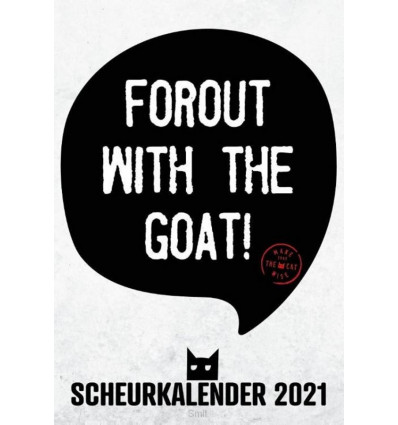 Forout with the goat! Scheurkalender 2021
