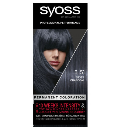 Syoss Haarkleuring 3-51 Silver Charcoal 115 ml