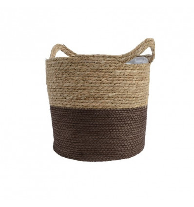 Mand Gras Donkerbruin Rond 33x33x31 cm