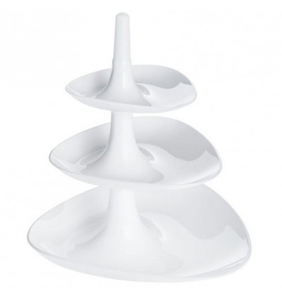 BETTY ETAGERE SOLID WHITE - 24,4X24,1X27,1CM