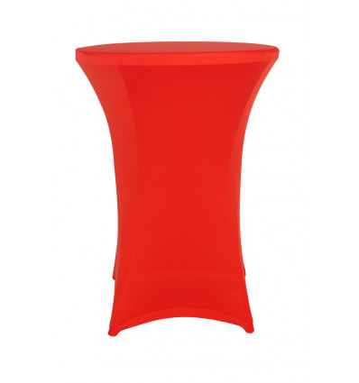 TOOLLAND BISTROTAFEL HOES STRETCH ROOD VOOR RONDE PARTYTAFELS - INCL TOPCOVER