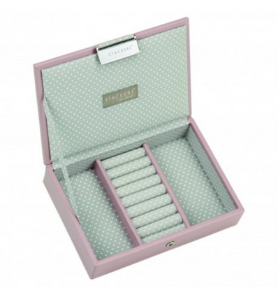 Stackers Mini Juwelendoos Top Soft Pink - 18x12.5x4CM