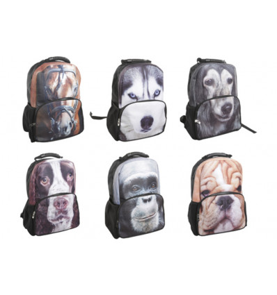 RUGZAK ANIMAL FACE ASSORTI 44x31x18cm COSY@HOME